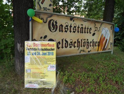 Sommerfest Gaststätte Feldschlösschen und Spende des Raasdorfer Männergesangsverein für Calgary
